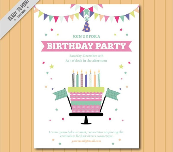 Kids Birthday Invitation Party