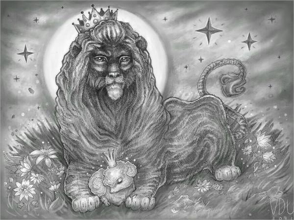 King Lion Drawing