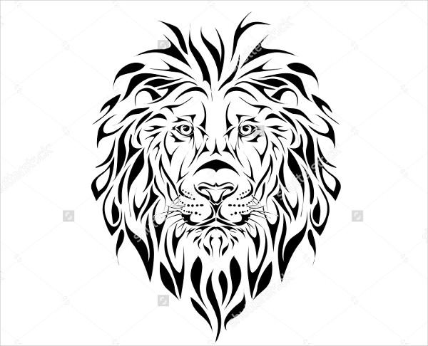 Lion Tattoo Pattern
