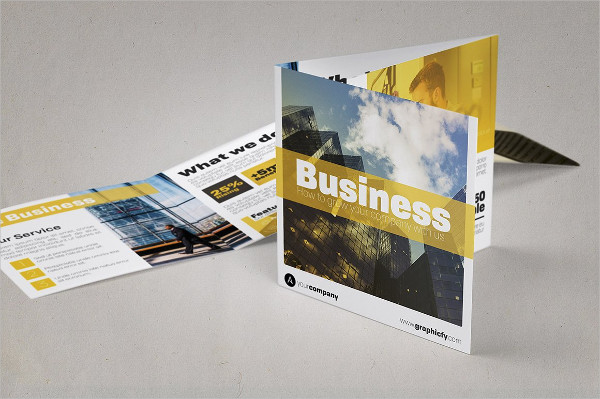 Minimalist Square Trifold Brochure