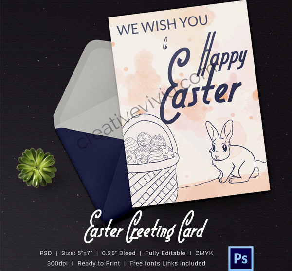 Free Download Happy Easter Greeting Card