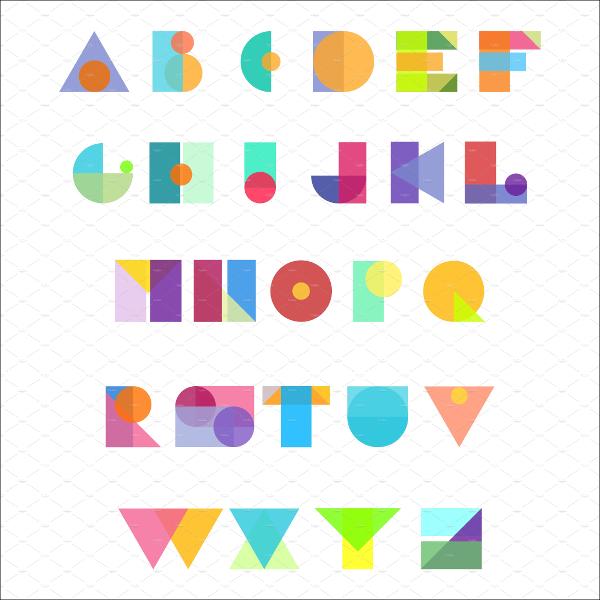 Modern Alphabet Upper Case Letters