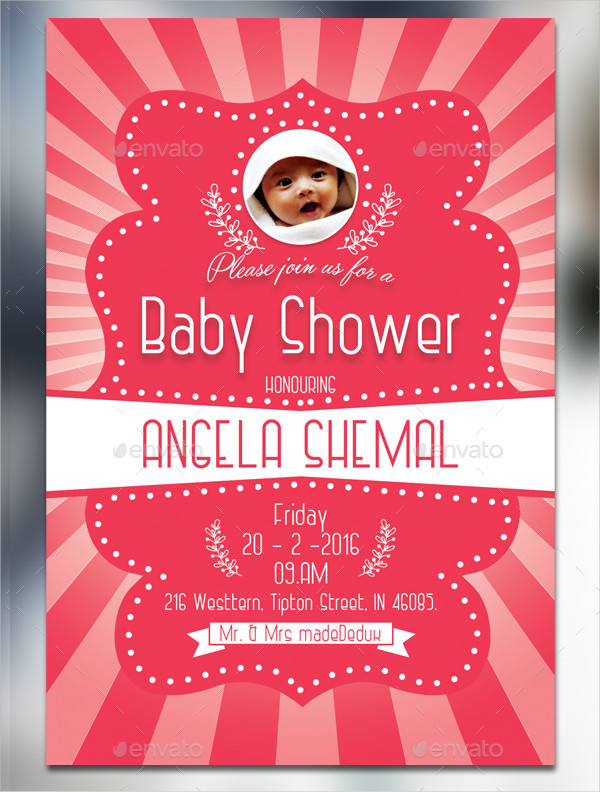 Modern Baby Shower Card Template