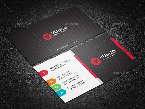 Multicolor Business Cards