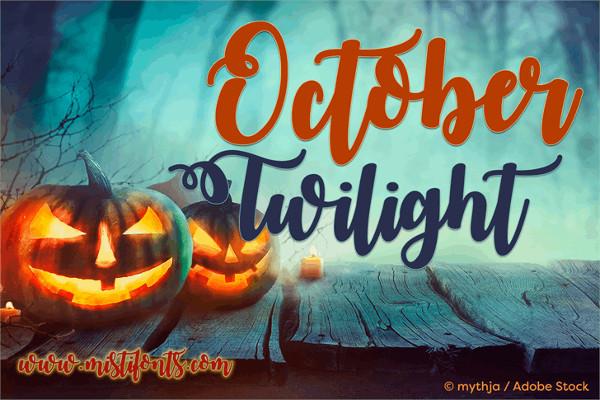 October Cursive Font Free
