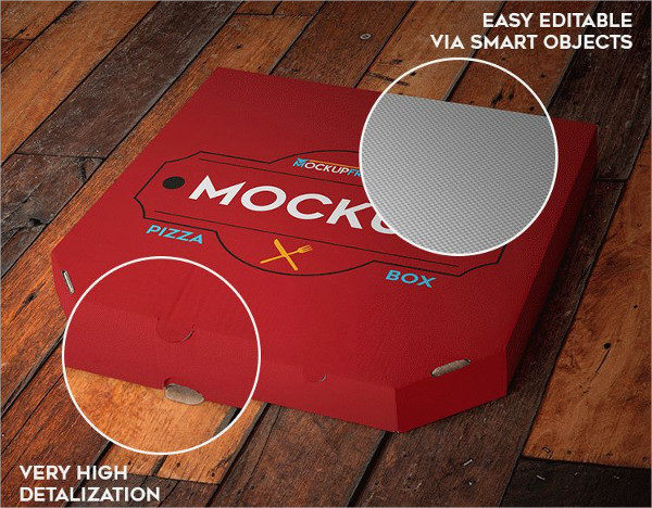Free PSD Pizza Box Mock-Up