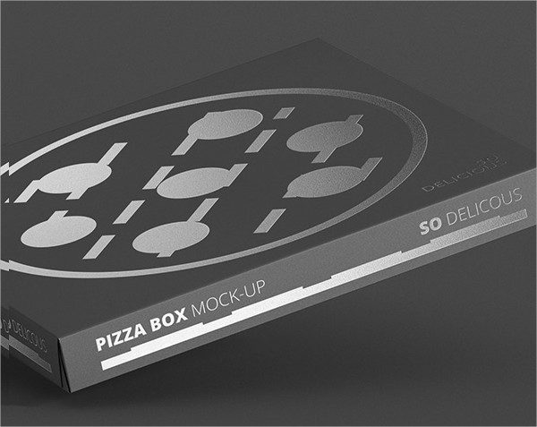 Pizza Box Mock-Up - Supermarket Edition