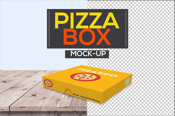 Pizza Box Packaging Mock-Ups