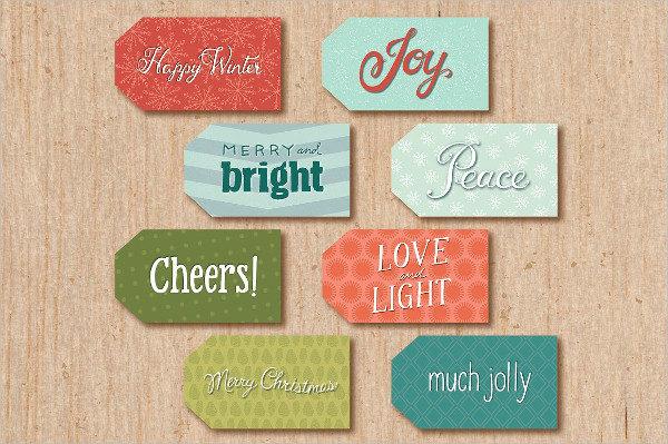 Printable Holiday Gift Tag Templates