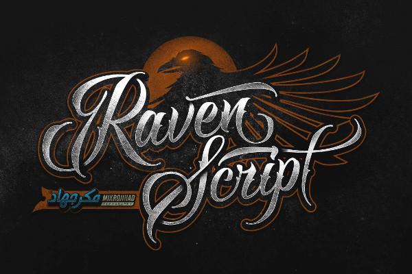 Raven Script Tattoo Font