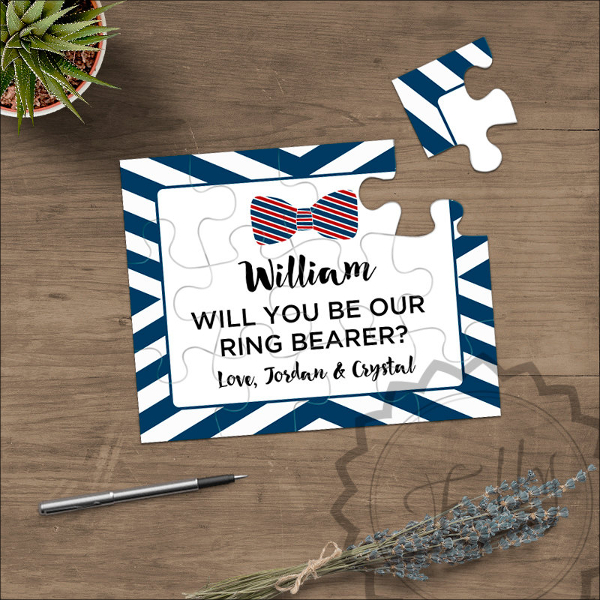 Ring Bearer Puzzle Invitation Card