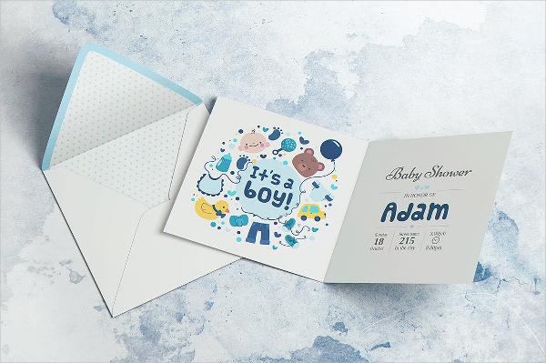 Square Invitation Card Template
