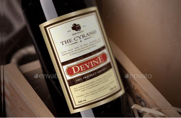 Standard Wine Label Templates