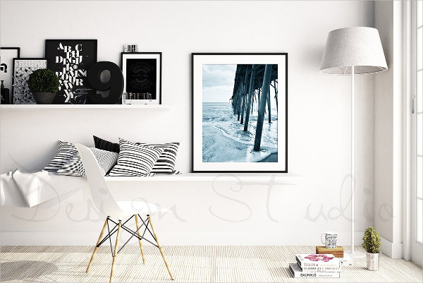 Stylish Photo Frames Mockup