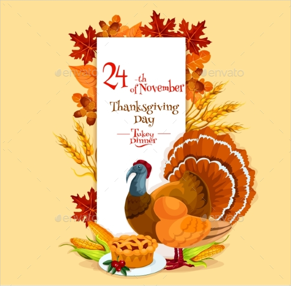 Thanksgiving Day Invitation Card