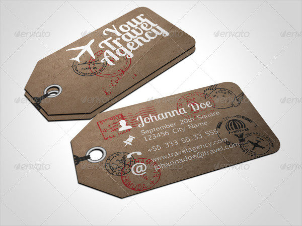 Travel Tag Business Card Template