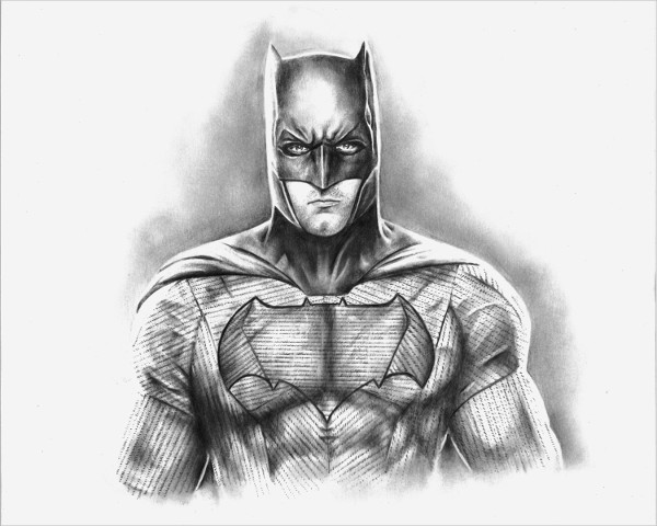Various Versions of Batman Drawing