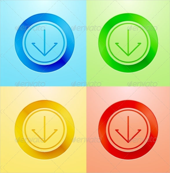 Vector Flat Circle Button Design