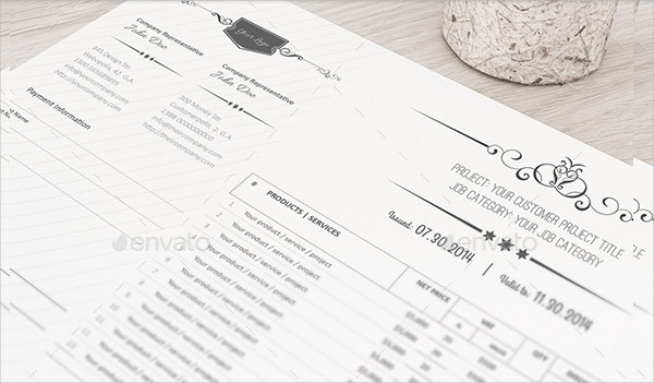 Vintage Business Invoice Templates