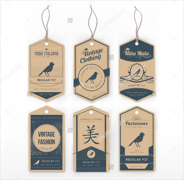 Vintage Clothing Tag Template
