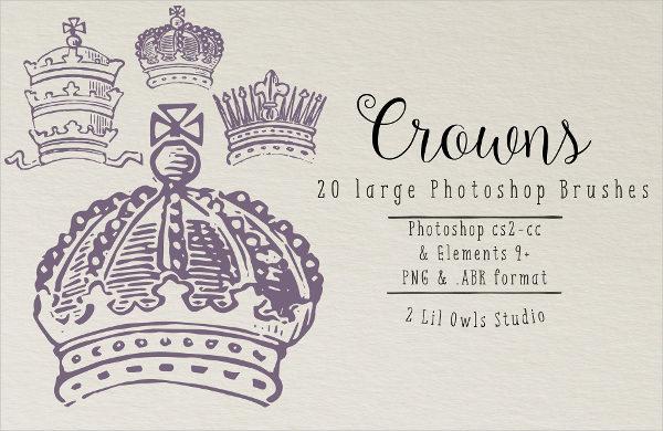 Vintage Crowns Photoshop Brushes