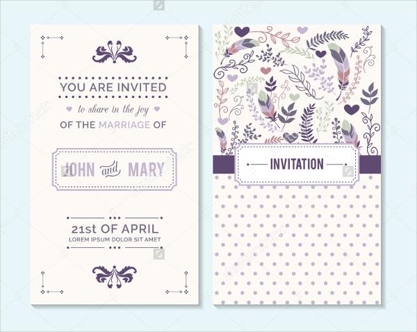 Wedding Invitation Card Vector Download