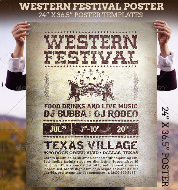 Western Festival Poster Template