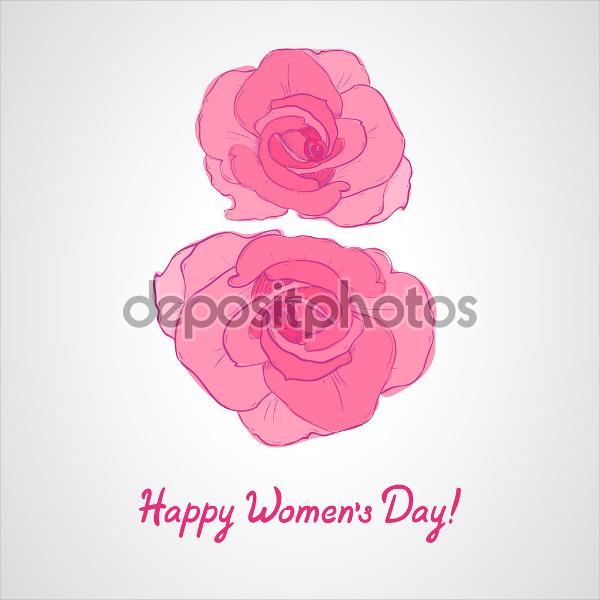 Womens Day Invitation Card Illustration