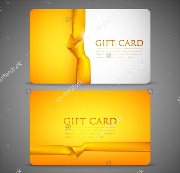 Gift Cards With Yellow Ribbon
