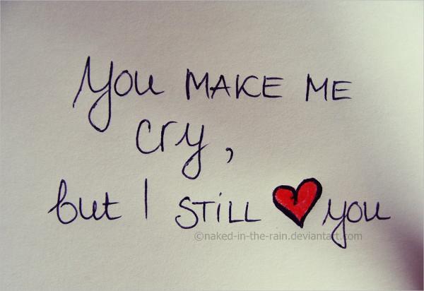 You Make Me Cry