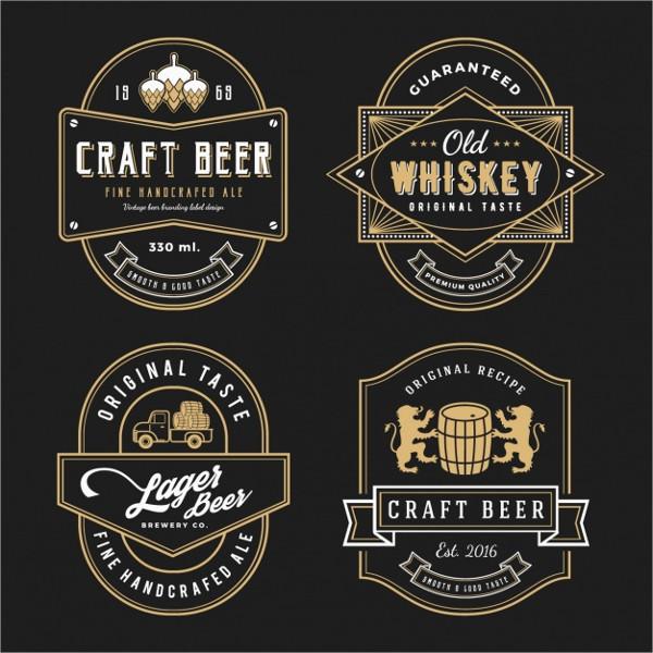 elegant beer lable free download