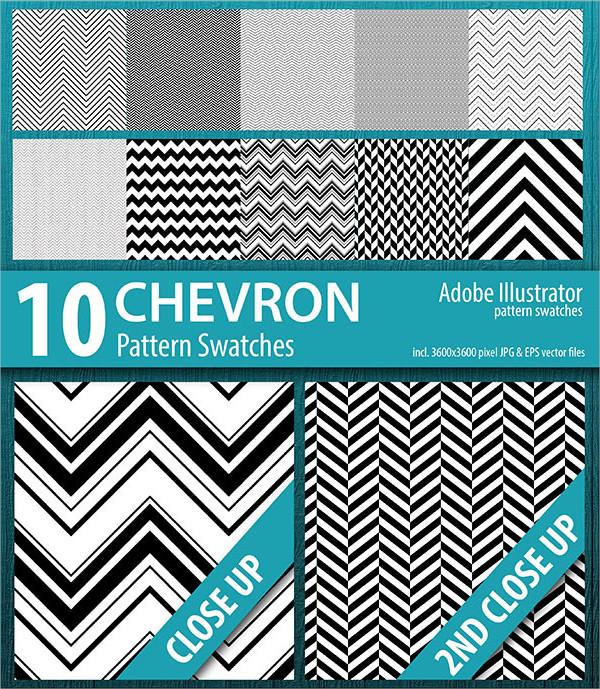 10 Chevron Stripes Pattern Swatches