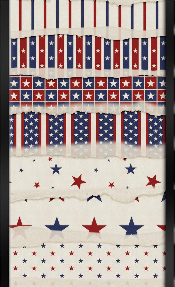 10 Stars & Stripes Paper Patterns