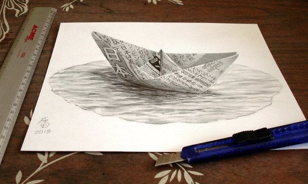 3D Boat Drawing