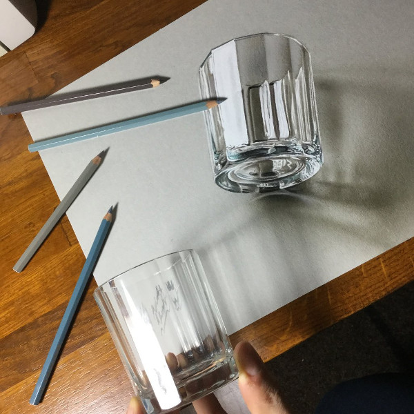 3D Drawing of a Glass