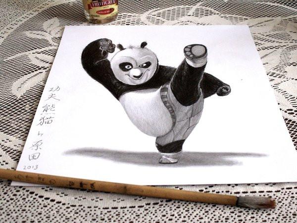3D Panda Drawing