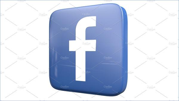 3d Facebook Icon