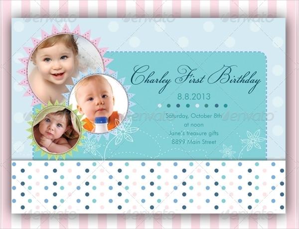 5 Baby Birthday Cards