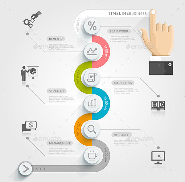 Abstract Business Timeline Infographics