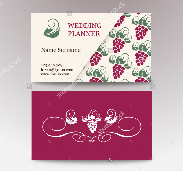Abstract Wedding Planner Business Card