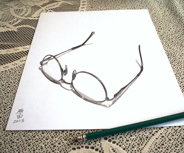 Amazing 3D Drawing of Mother Glasses