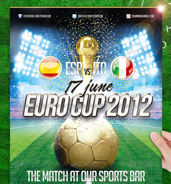 Soccer Euro Cup Flyer