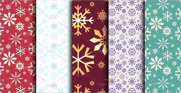 Assorted Snowflakes Pattern
