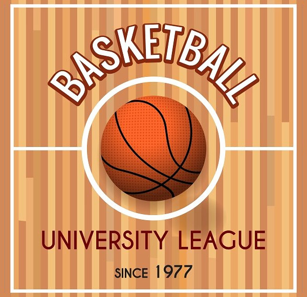 Basketball College League Poster
