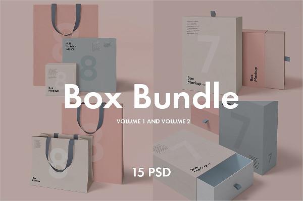 Box and Bag Mockup Bundle