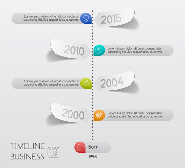 Business Timeline Infographic Free Vector