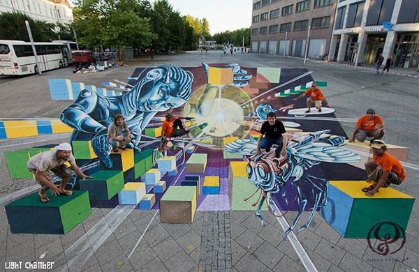 Chalk 3D Street Art