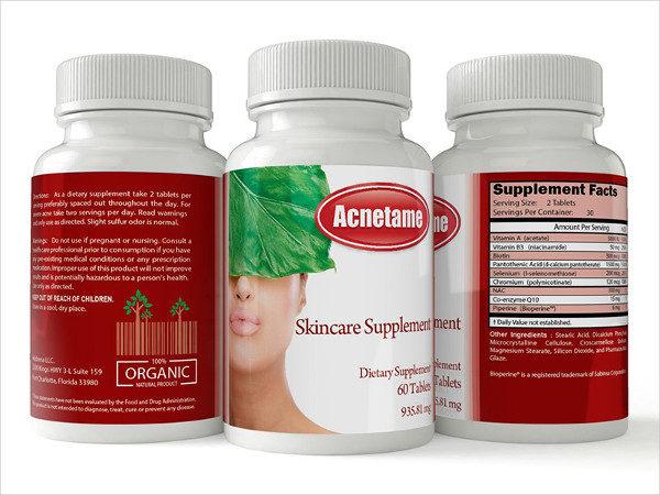 supplement label templates
