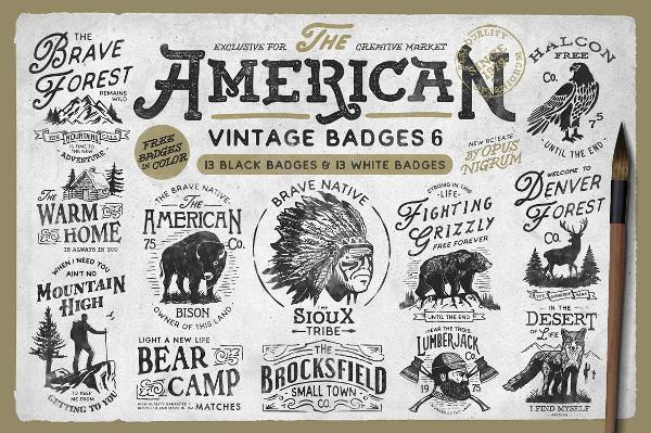 Classic American Badges