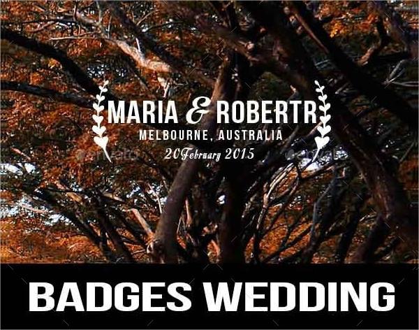 PSD Badges Wedding Labels